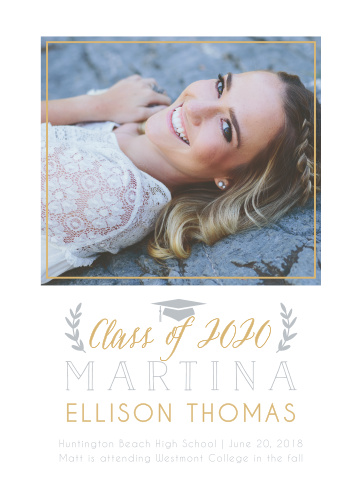 Choose our stylish Class Laurels Graduation Announcements to outline your success.