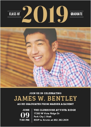bold success graduation invitations
