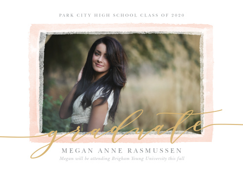 The Painted Border Graduation Announcements sport a a few painted layers of different transparencies to border your photo.