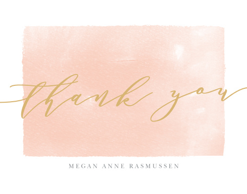 The Painted Border Graduation Thank You Cards sport a a few painted layers of different transparencies to border your gratitude.