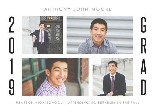 Choose our clean and simple Photo Play Graduation Announcements to send out to your loved ones.