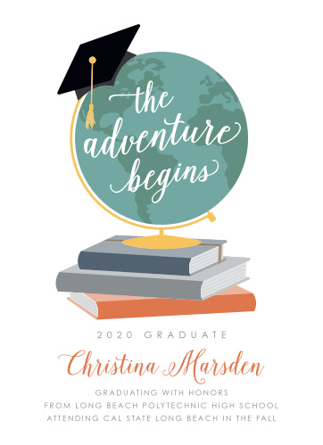 2018 graduation announcements invitations for high school and college the adventure begins graduation announcements stopboris Gallery