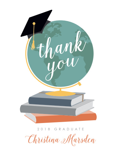 Choose our The Adventure Begins Graduation Thank You Cards to send our your appreciation!