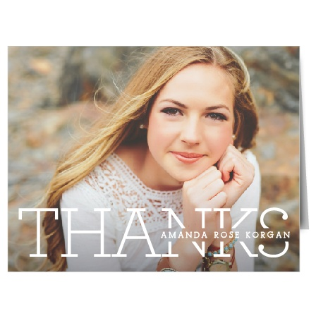 Show your gratitude with our simple yet bold The Biggest Year Graduation Thank You Cards.