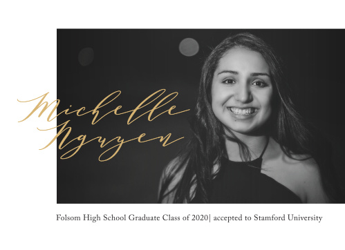 Wow your friends and family with our Simple Signature Graduation Announcements.