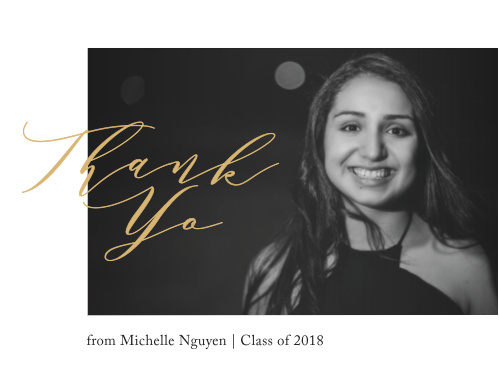 Wow your friends and family with our Simple Signature Graduation Thank You Cards.