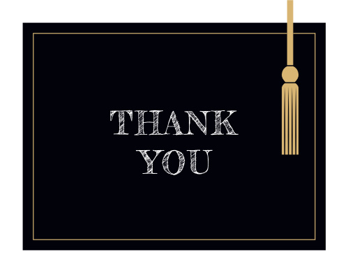 Our Hanging Tassel Graduation Thank You Cards were inspired by tradition.