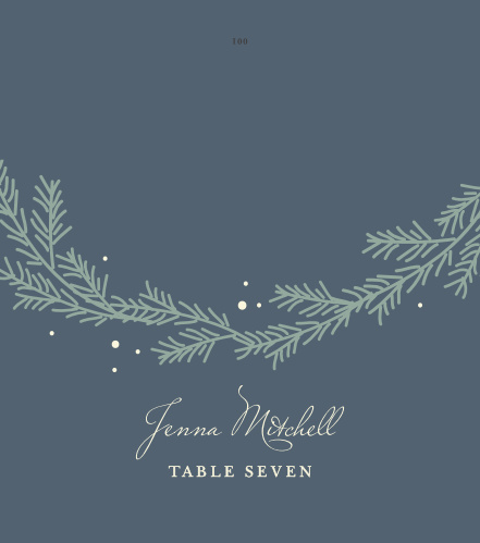 Our Evergreen Wreath Wedding Place cards are a wonderful choice for seating arrangements on your special day!