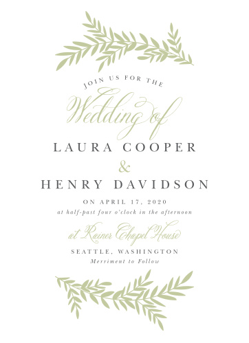 Enjoy the company of your friends and family when you use our Blissful Boughs Wedding Invitations to invite them.