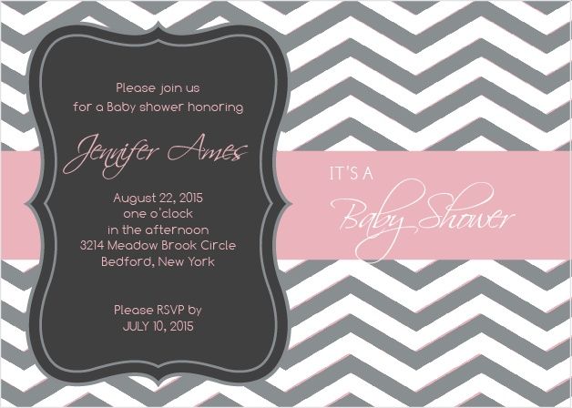 Baby Boutique Baby Shower Invitation
