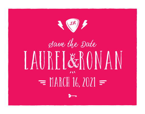 Cupid's Keys Save-the-Date Cards ensure that your loved ones mark their calendars well in advance of your special day.