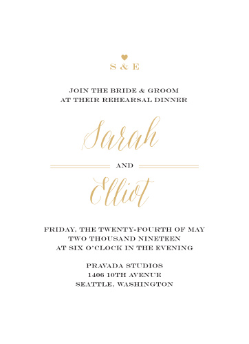 Gather together everyone you need with our gorgeous Rustic Chic Rehearsal Dinner Invitations.