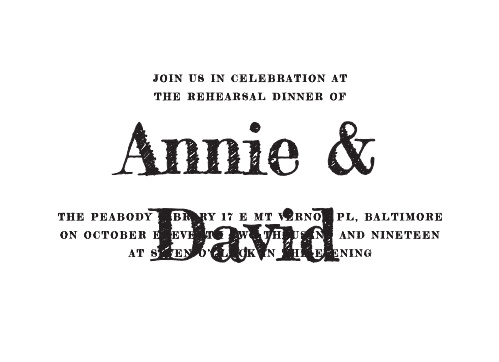 Practice until it's perfect with our Traditional Script Rehearsal Dinner Invitations.
