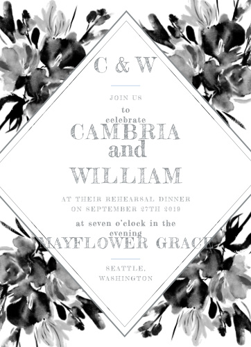 Our gorgeous Subtle Fleuriste Rehearsal Dinner Invitations are perfect for gathering together all of your friends and family.