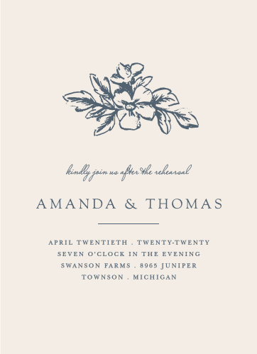 Our gorgeous Soft Morning Rehearsal Dinner Invitations are perfect for gathering your friends and family together for a wedding test run.
