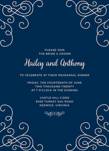 Our Modern Love Rehearsal Dinner Invitations are perfect for gathering your friends and family together for a wedding test run.