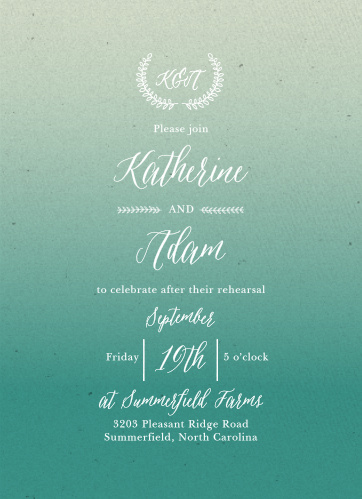 Our Rustic Ombre Rehearsal Dinner Invitations are perfect for gathering your friends and family together for a wedding test run.