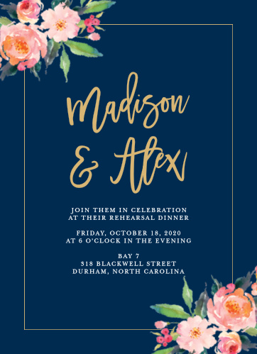 Our Standing Ovation Rehearsal Dinner Invitations are perfect for gathering your friends and family together for a wedding test run.