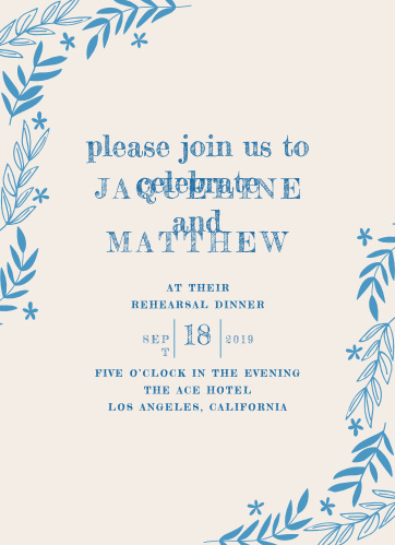 Rehearsal Dinner Invitations Match Your Color Style Free