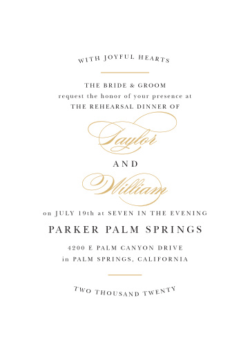 Our Elegant Vintage Rehearsal Dinner Invitations are perfect for gathering your friends and family together for a wedding test run.