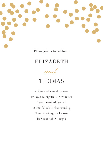 Our Glamorous Standard Rehearsal Dinner Invitations are perfect for gathering your friends and family together for a wedding test run.