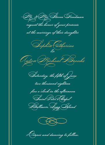 For a beautiful invitation befitting the elegance of your wedding plans, look no further than our Striped Swash Wedding Invitations.