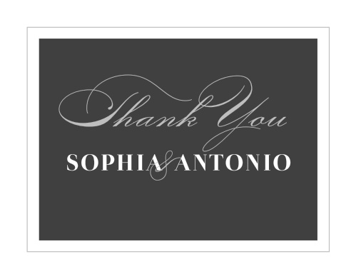 Our Framed Forever Wedding Thank You Cards utilize the same gorgeous design and color scheme as several other cards in the Framed Forever wedding suite.
