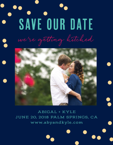 Make sure your guests mark their calendars with our stunning Color Pop Save-the-Date Magnets.