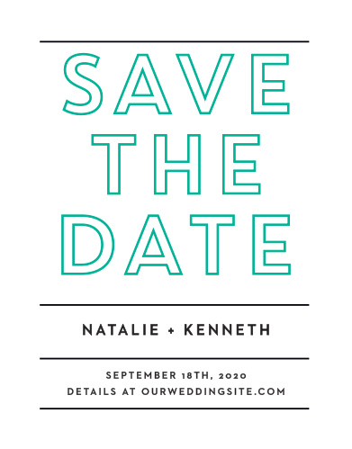 Our Bold Outline Save-the-Date Cards ensure that your loved ones mark their calendars well in advance of your special day.
