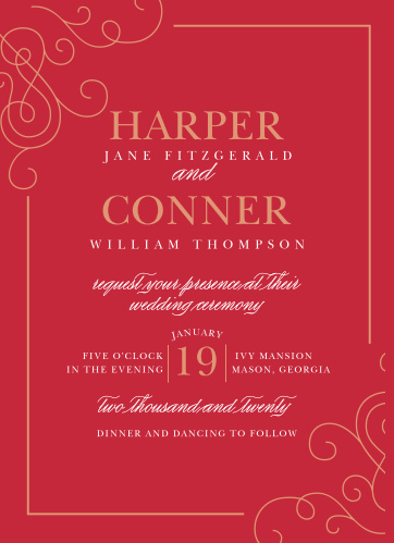 Our Color of Love Wedding Invitations are classically romantic.