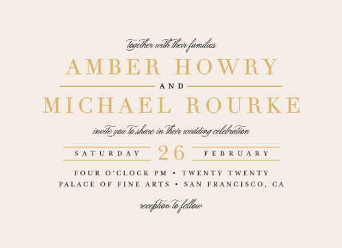 Enjoy the company of your friends and family when you use our Timeless Type Wedding Invitations to invite them.