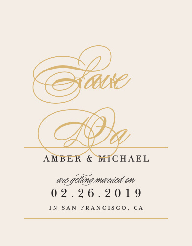 Our Timeless Type Save-the-Date Cards ensure that your loved ones mark their calendars well in advance of your special day.
