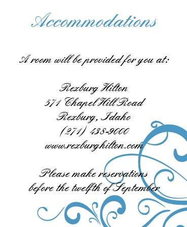 The Simple Swirls accommodation cards will help your guests feel welcome and included for the big day!