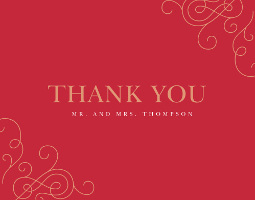 Our Color of Love Wedding Thank you Cards are classically romantic.