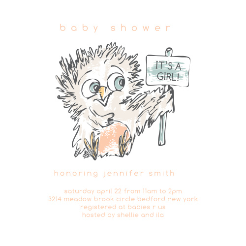 Owl Baby Shower Invitations Match Your Color Style Free