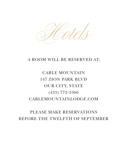 Our Love Knots Accommodation Cards are classically elegant.