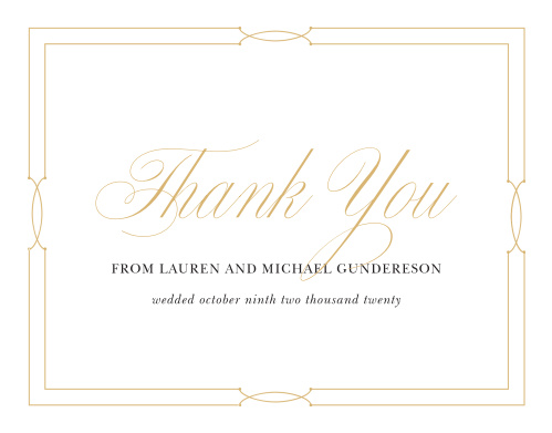 Our Love Knots Wedding Thank You Cards give classic elegance a twist!