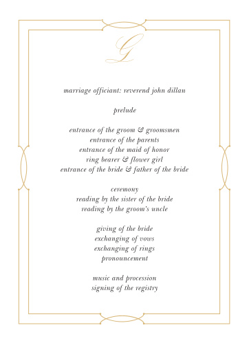 Our Love Knots Wedding Programs give classic elegance a twist!