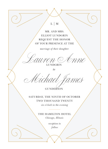 Our New Deco Frame Wedding Invitations are the perfect combination of elegance and style!