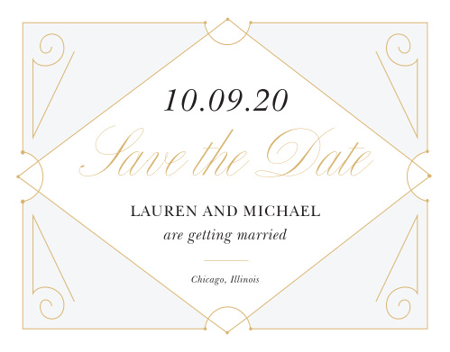Our New Deco Frame Save-the-Date Cards are the perfect combination of elegance and style!