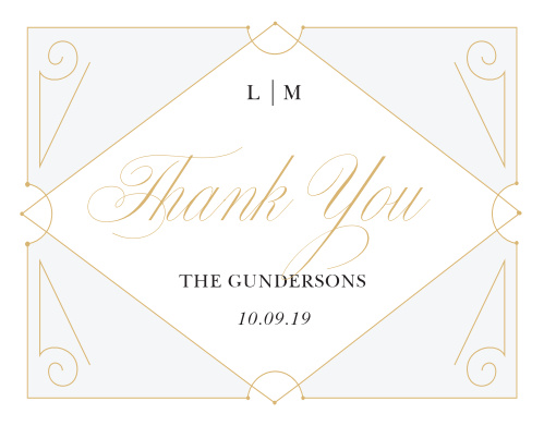 Our New Deco Frame Wedding Thank You Cards are the perfect combination of elegance and style!