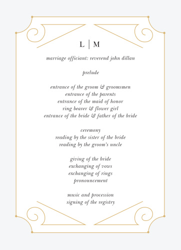 Our New Deco Frame Wedding Programs are the perfect combination of elegance and style!