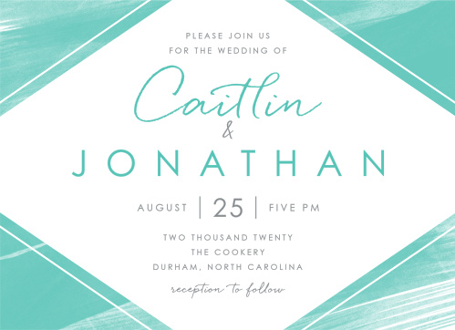 Guarantee that your wedding day is spent surrounded by your dearest friends and family with our stunning Ocean Watercolor Wedding Invitations.