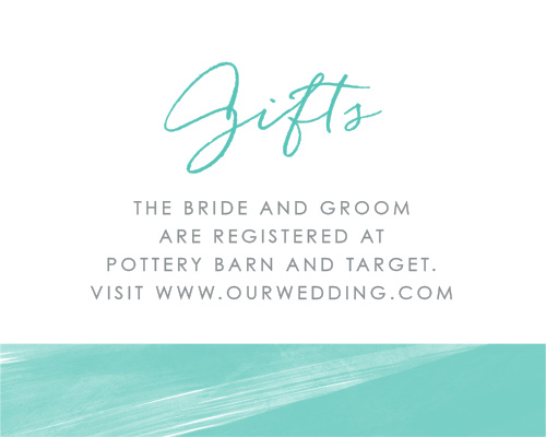 Next Wedding Gift List: Customizable Wedding Registry Cards