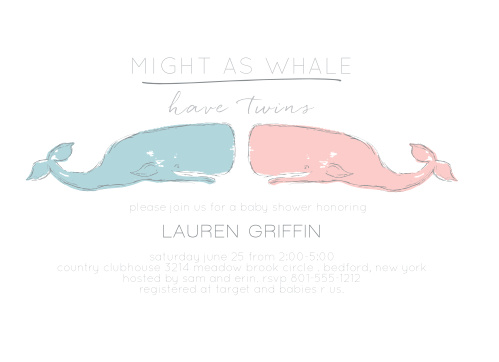 Might As Whale Baby Shower Invitation · Might As Whale Send Out ...
