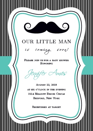 You can't go wrong with the Little Man Baby Shower Invitations!