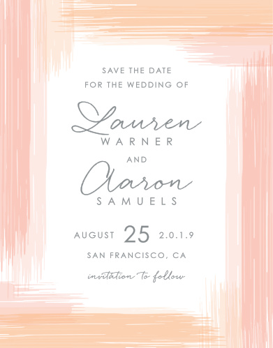 Be sure that your guests have your wedding information well in advance with our stunning and simple Artful Gallery Save-the-Date Cards.