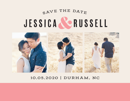 Our Color Block Save-the-Date Cards ensure that your loved ones mark their calendars well in advance of your special day.