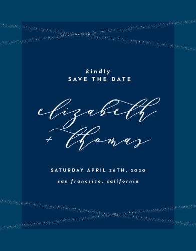 Make sure that your guests mark their calendars well in advance with our Stunning Starlight Save-the-Date Cards.
