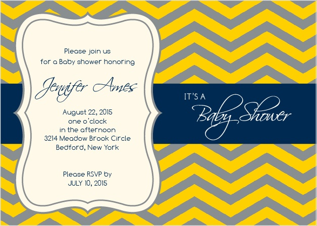 It's classy, it's traditional, it's cute, what more could you want? How about the ability to customize the colors and fonts any way you please? Okay, you got it! Choose from well over 200 font and color combinations and make your baby shower invite truly unforgettable!